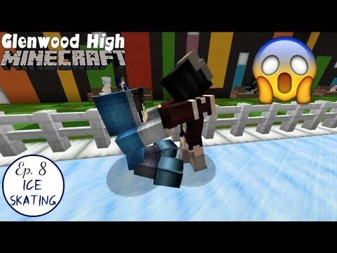 Ice Skating + LOVE TRIANGLE || GLENWOOD HIGH [Ep 8] Minecraft Roleplay High School