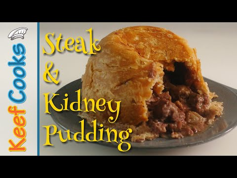 Traditional Steak and Kidney Pudding | British Classic Food