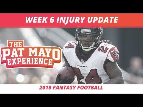 2018 Fantasy Football Rankings Update — Week 6 NFL Injury Report