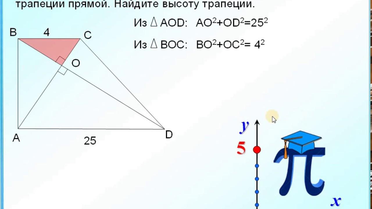 Решение задач по теореме пифагора трапеция урок в 8 решение задач на соотношение