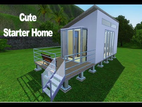 Sims 3 cute small starter home youtube for Small starter homes