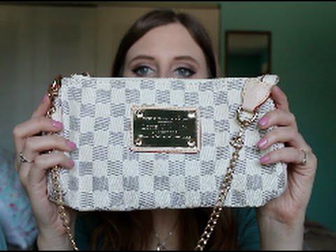 6d09c6814902 Aliexpress Review: Louis Vuitton Damier Azur Eva Clutch - YouTube