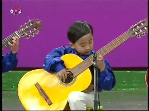 north korea kindergarten children playing guitar at chongam kindergarten chongjin youtube. Black Bedroom Furniture Sets. Home Design Ideas