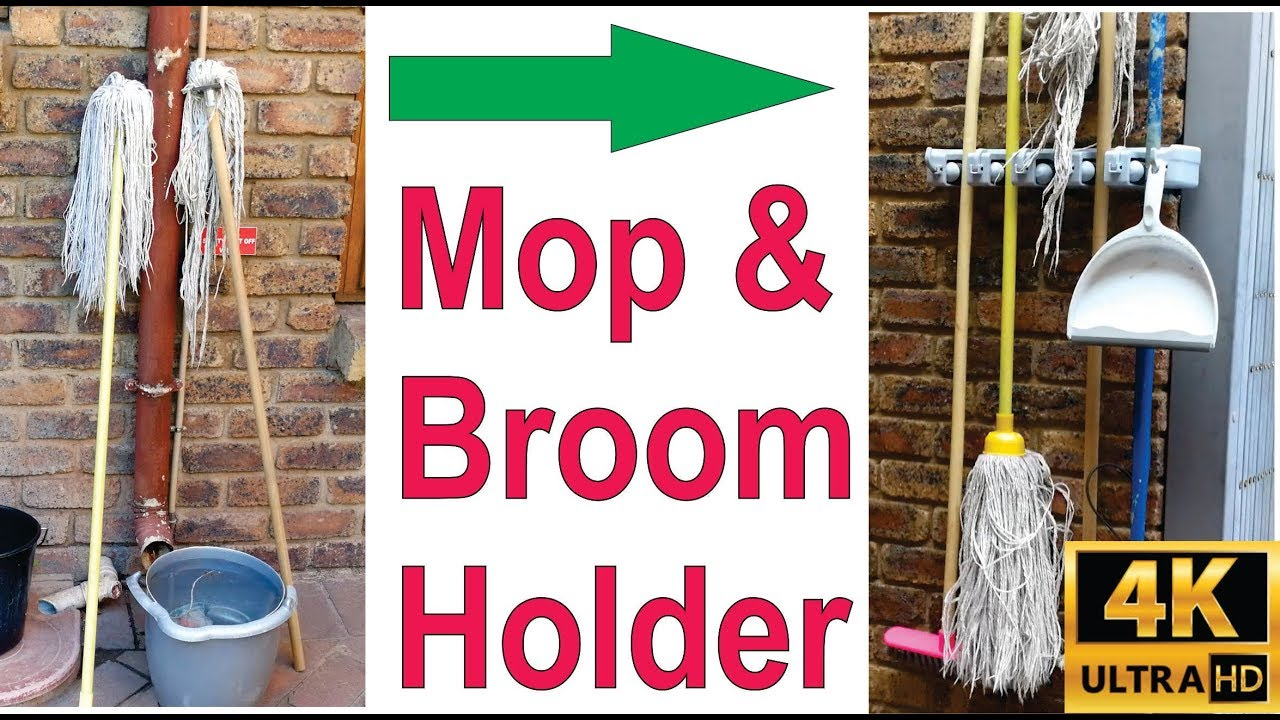 How To Install A Broom And Mop Holder