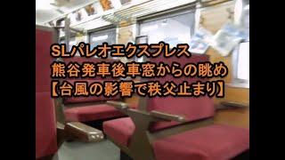 【車窓からの眺め】SLパレオエクスプレス熊谷発車【林家たい平の声による12系の説明放送】