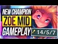 ZOE IS SO BROKEN! Q ONE-SHOTS! Zoe Mid Gameplay - League of Legends