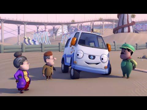 Олли Веселый грузовичок - Мультик про машинки - Бамптонские автобусы - Серия 55 (Full HD)