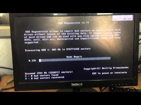 Hard Disk Repair with Hiren