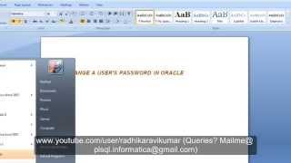 Sql: Change User Password