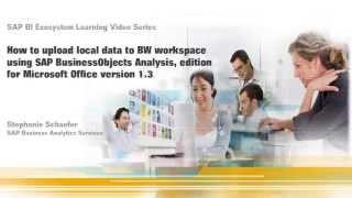 تحميل البيانات إلى BW مساحة العمل باستخدام SAP BusinessObjects التحليل ، edition Microsoft Office الاصدار 1.3