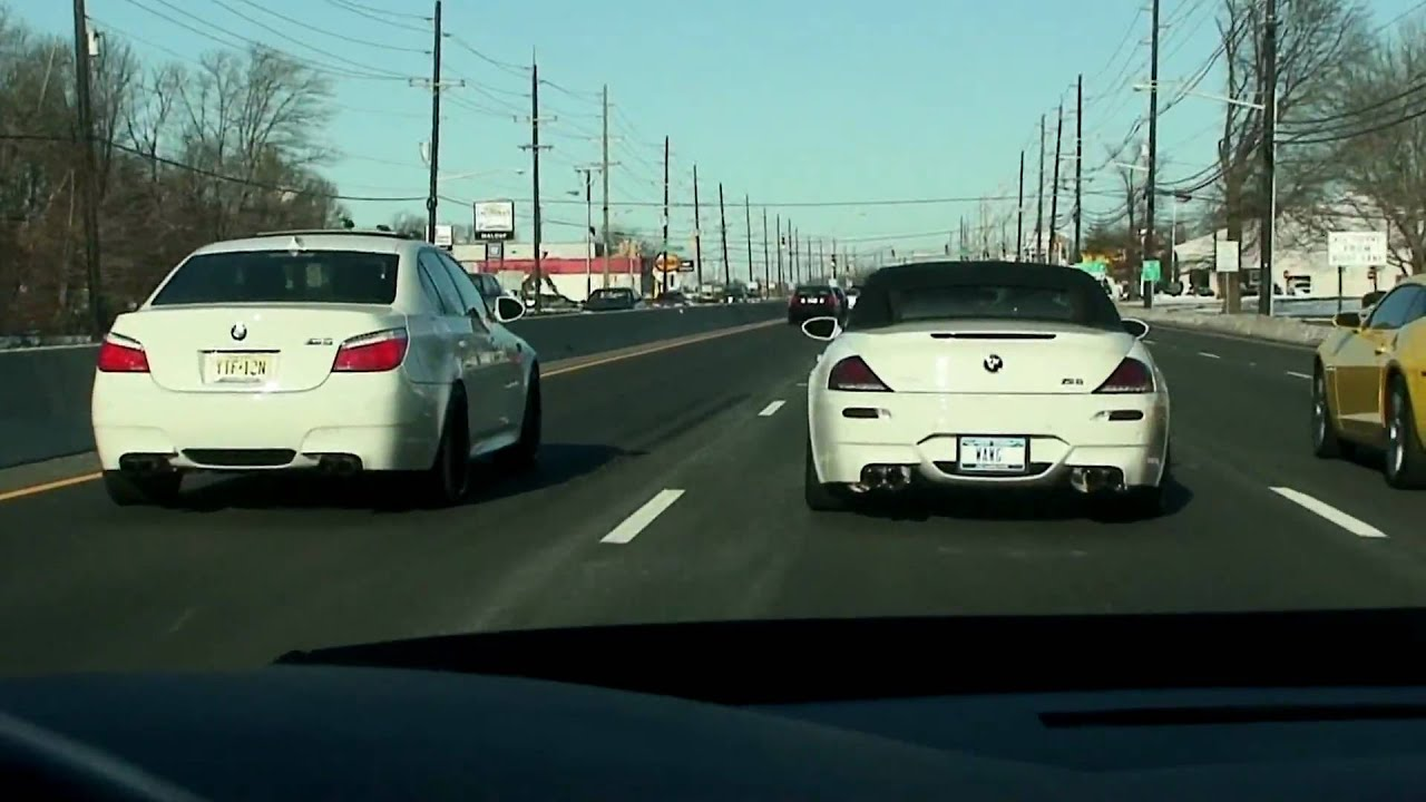 hd) sunday run-bmw m5, m6 vs camaro ss (all modded) - youtube