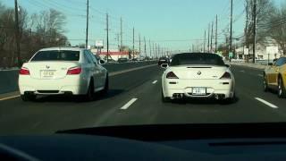 (HD) Sunday Run-BMW M5, M6 Vs Camaro SS (All Modded)