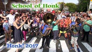HONK! 2017 - School of Honk - Ghostbusters - Oct 7 - Davis Square, Somerville
