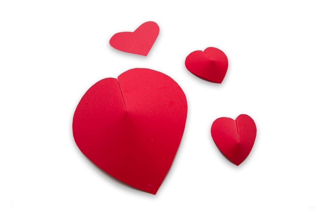Como hacer corazones de papel en 3d para san valentin o - Como hacer adornos de san valentin ...