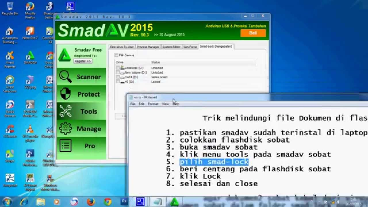 Cara melindungi file Dokumen di flashdisk dari virus - YouTube
