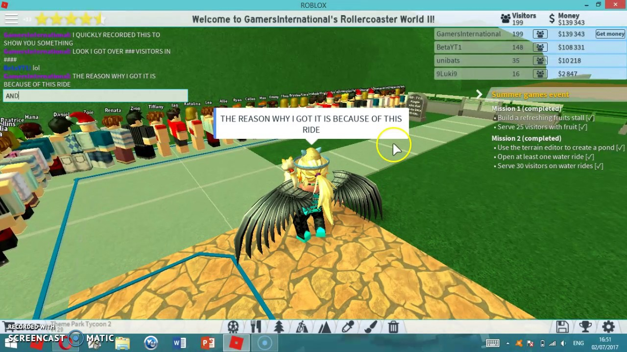 Omg Did I Hack Tpt2 No Theme Park Tycoon 2 Roblox 40 Youtube