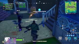 Playing Fortnite