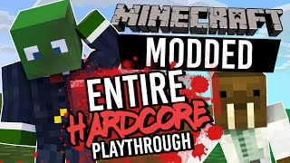 AN ENTIRE HARDCORE PLAYTHROUGH - Minecraft MODDED Hardcore