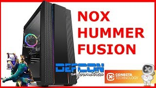 Review Nox Hummer Fusion | Cristal Templado,RGB por 80 euros 🤔 🤨