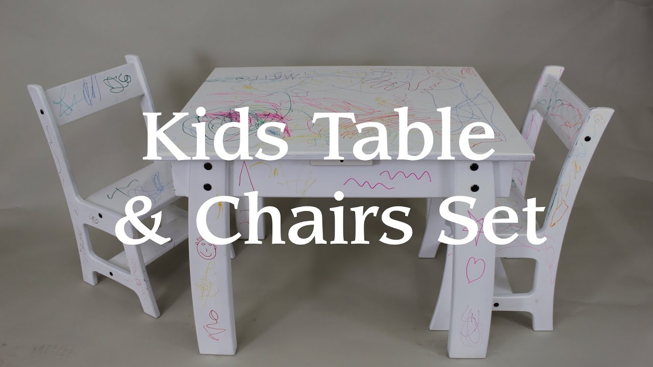 Kids Table & Chair Set From a Single Sheet of Plywood! - YouTube