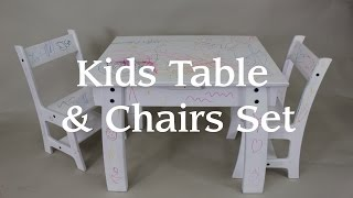 Kids Table & Chair Set From a Single Sheet of Plywood!