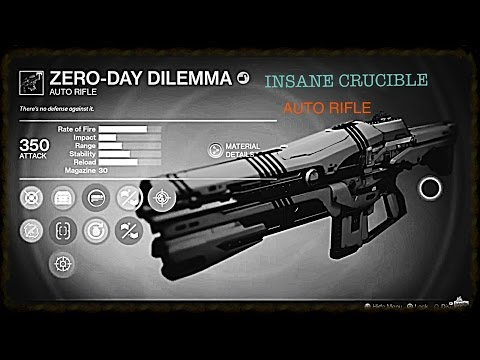 THE ZERO DAY DILEMMA IS INSANE!! Destiny Rise of Iron Weapon Review