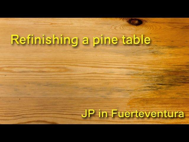 refinishing pine furniture diy 1