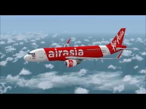 AIRBUS A320 200WL AIR ASIA ETOPS LANDING AT PORTO INTL AIRPORT FS9 HD