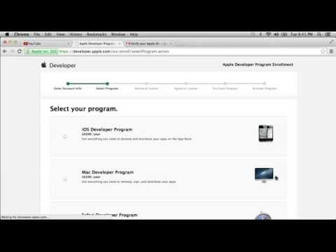 Cooking With Unity: From Scratch to Published - Ep. 4: Apple Developer Registration
