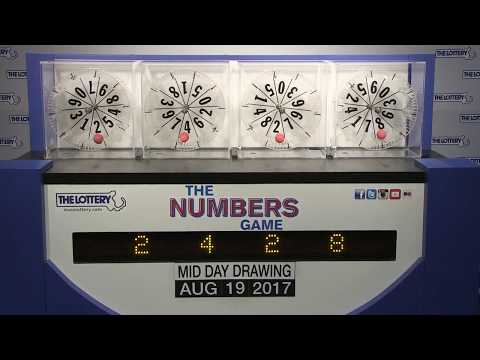 Midday Numbers Game Drawing: Saturday, August 19, 2017