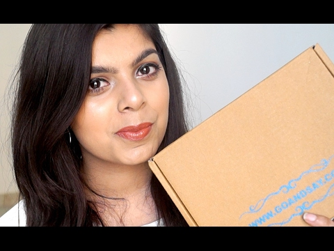 Go and Say Box Unboxing - Monthly Bath and Body Subscription Box - 동영상