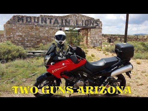 "Two Guns Arizona ""Ghost Town"" Motovlog - Suzuki V Strom 1000 DL1000"