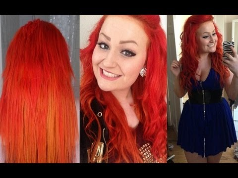 hair colour and styles for hair creating firey hair using colour 5489