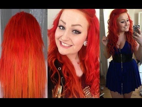 creating firey hair crazy