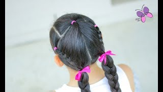 Braided Pigtails | Braided Hairstyles | Hairstyles for Girls | ChikasChicEng
