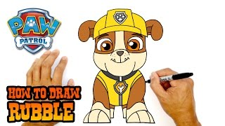 How to Draw Rubble (Paw Patrol) - Art Lesson for Kids