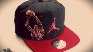 jordans hand painted hat