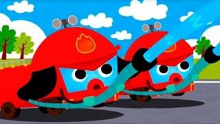 Мультики про машинки. Машины помощники - Пожарная машина, Уборочная машина, Скорая помощь, Эвакуатор