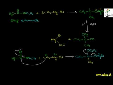 Reaction Of Esters With Grignard Reagent, Chemistry Lecture | Sabaq.pk |