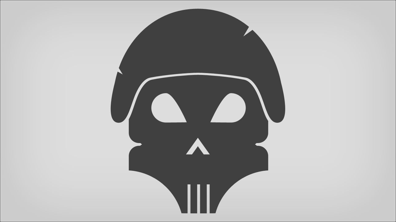 Vector Skull Logo Design in Photoshop