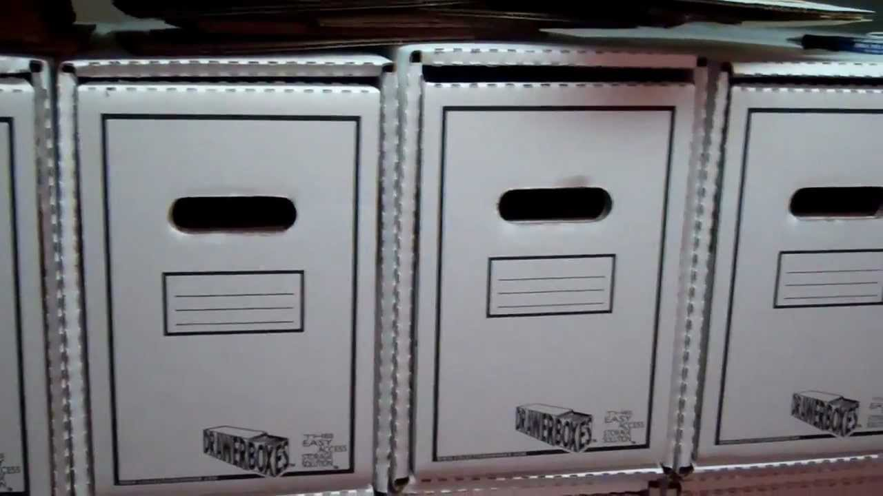 Comic Book Storage Cabinets Comic Drawer Comic Storage System Superjoeitall Youtube