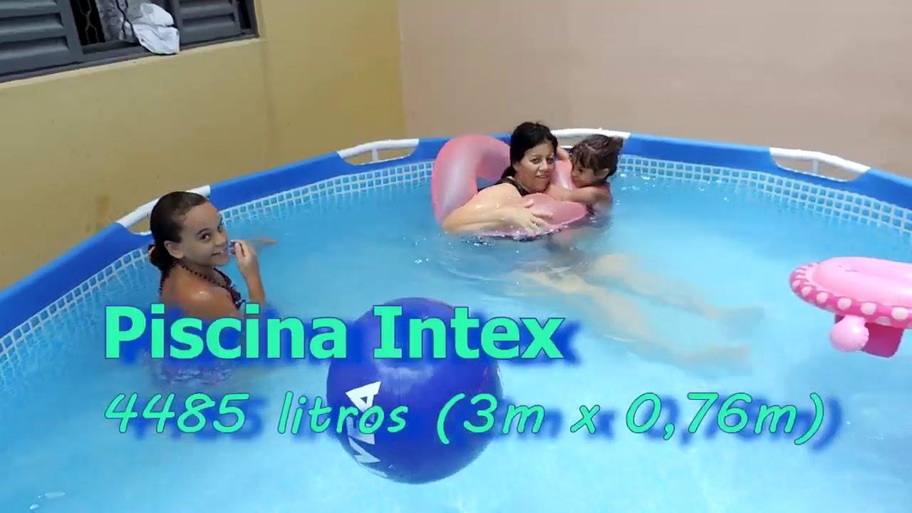 Piscina intex 4485 litros 3m x 0 76m youtube for Interrare piscina intex