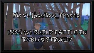 PROS 1V1 BUILD BATTLE IN ROBLOX STRUCID | 1K WOOD NUR | Road to 200 subs