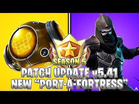 "NEW ""PORT-A-FORTRESS"" GAMEPLAY! UPDATE v5.41! (Fortnite Season 5)"