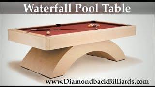 Waterfall Pool Table Modern & Great Price 480-792-1115