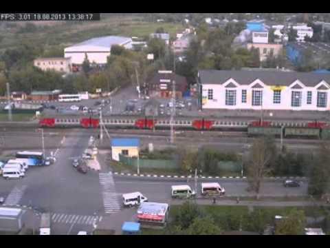 ДЕБИЛ на ЖД переезде В363ЕА 123RUS