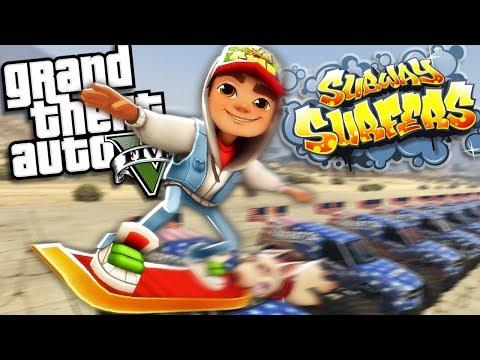 GTA 5 Mods - JAKE FROM SUBWAY SURFERS MOD - PART 3 (GTA 5 Mods Gameplay)