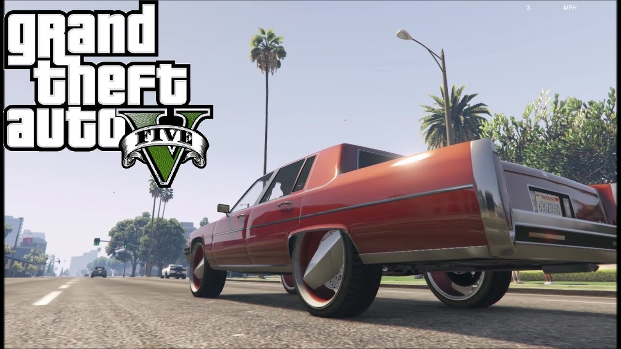 Grand Theft Auto V - Texas style Donk Cadillac (Albany Emperor) GTA 5
