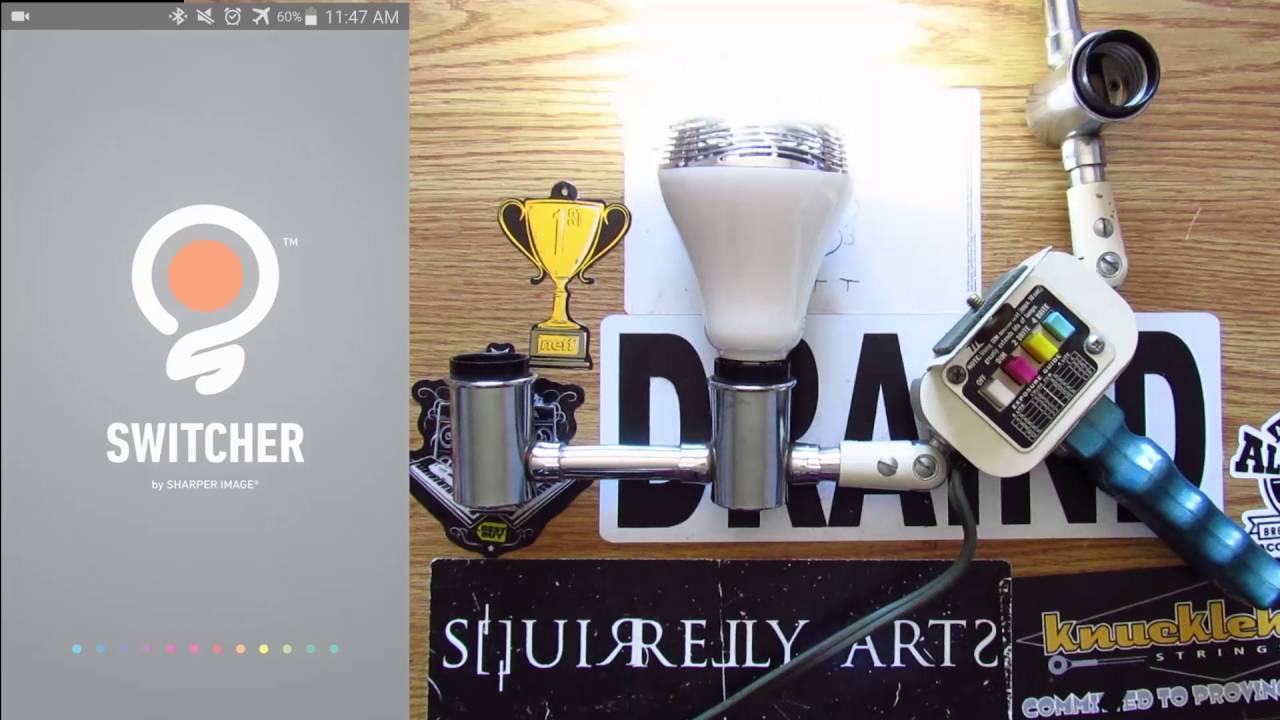 Sharper Image Led Bulb And Bluetooth Speaker Unboxing Youtube