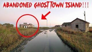 EXPLORING ABANDONED GHOST TOWN ISLAND! CREEPY HAUNTED ? | MOE SARGI